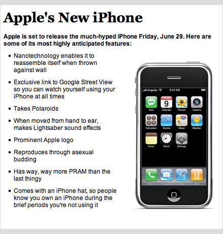 iPhone specifications