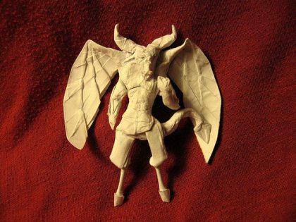 Demon Origami Model