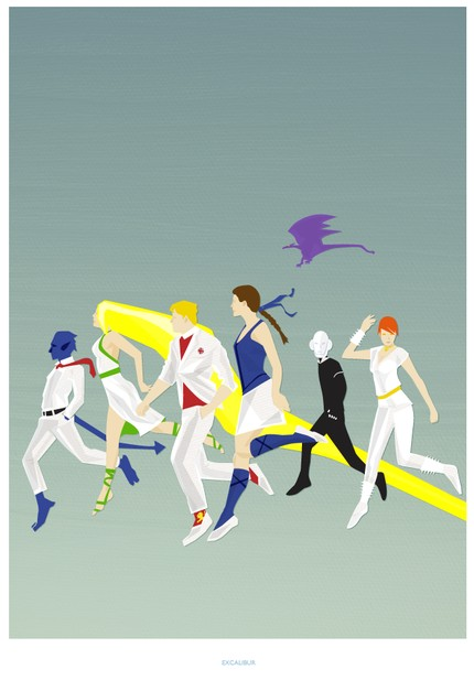 X Men In Europe- Excalibur- Modern Art Style