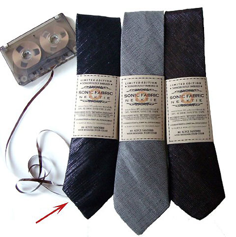 Tie made of recycled Tape