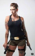 Laura Harrell as Lara Croft 01