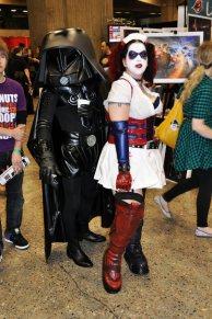 Dark Helmet (Spaceballs) + Harley Quinn
