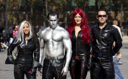 Rogue, Collosus, Jean Grey, and Cyclops (New York Comic Con 2011)