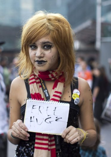 Free Hugs! (New York Comic Con 2011)