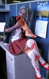 Gena as a Zombie Schoolgirl