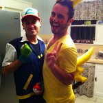 Jacob and Friend as Ash and Pikachu