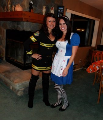 Sarah and Friend - Firefighter and Alice