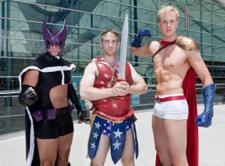 Gender Bent Justice League Hunter, Wonder Man and Power Lad