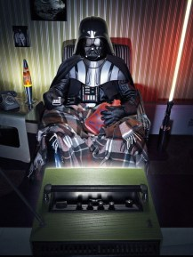 Vader Chillin in Front of the TV