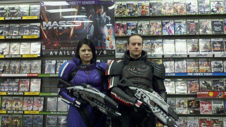 Jane Justice and David Carpenter at Gamestop in Yorktown, VA