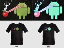 Sound Activated Android Destroying Apple Tee4