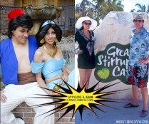 Livvylove & Adam as Princess Jasmine and Aladdin