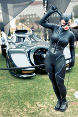 Catwoman and the Batmobile - SDCC 2012 - Hayley Sargent
