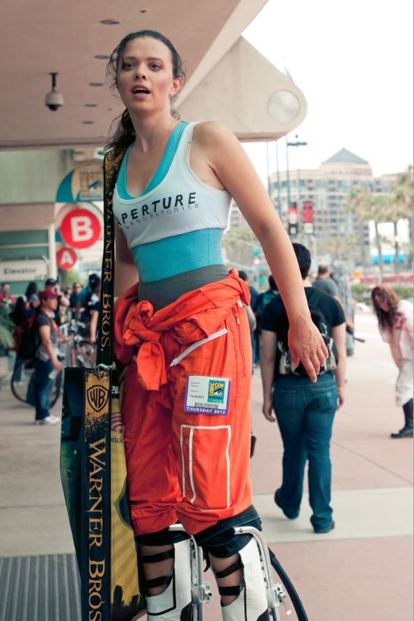 Chell - Portal 2 - Hayley Sargent - San Diego Comic-Con 2012
