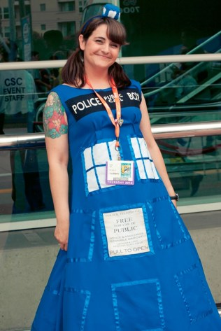 Tardis Gown - Hayley Sargent - San Diego Comic-Con 2012