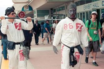 Zombie + Zombie Handler - Hayley Sargent - San Diego Comic-Con 2012
