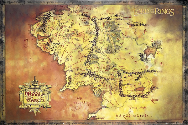 Lotr middle earth map the gumiabroncs Images