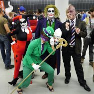 Gotham's Villains (Harley Quinn, The Ridler, The Joker, Two-Face) at Montreal Comic Con 2012