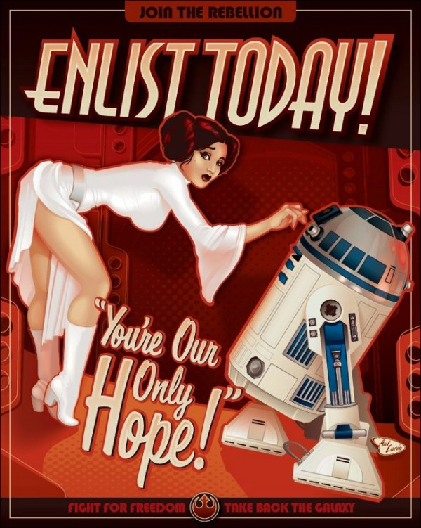 Enlist Today Star Wars Rebel Alliance Recruitment Posters Picture