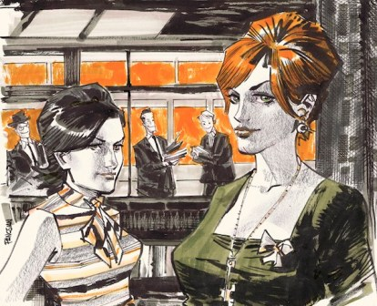 Mad Men Comic Style Peggy and Joan