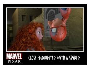 Pixar Spiderman Kiss