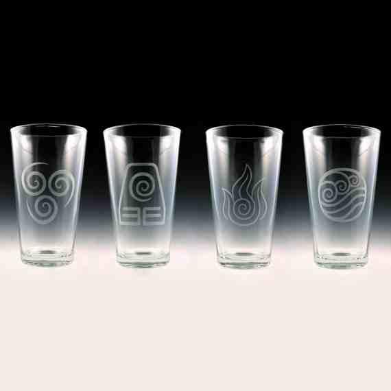 Avatar Last Airbender Pint Glasses
