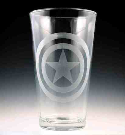 Captain America Pint Glass