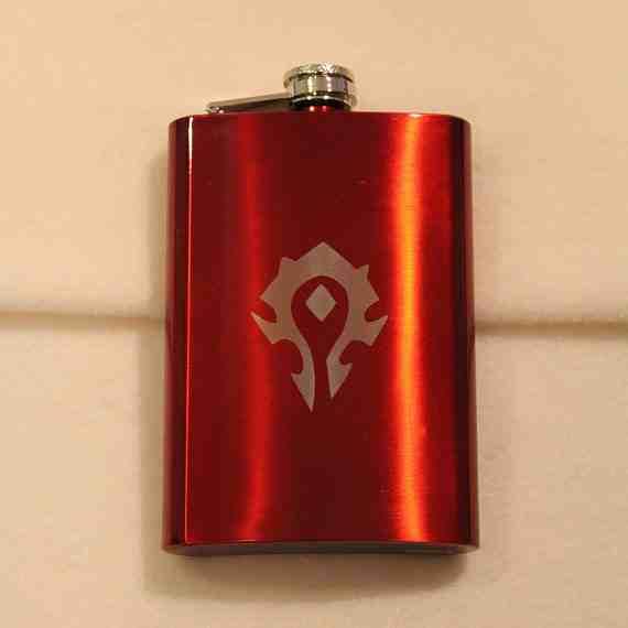 World of Warcraft Horde Symbol Flask