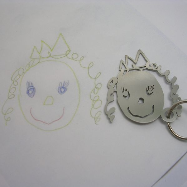 kid drawings keychains 1