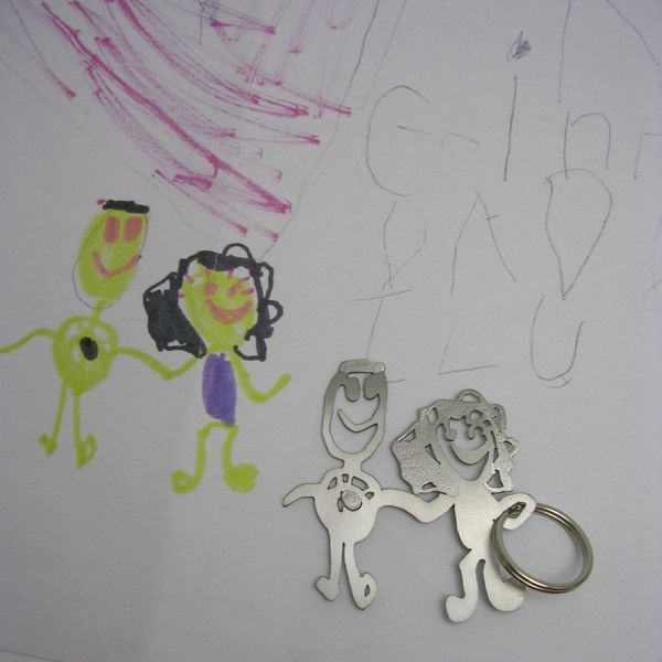 kid drawings keychains 3