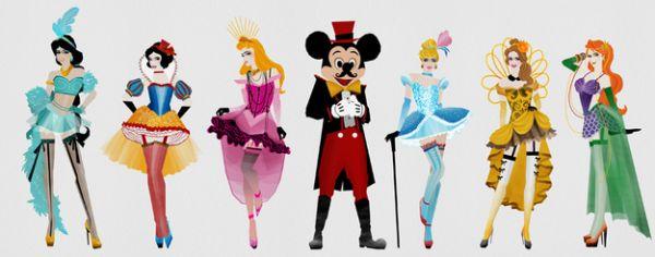burlesque Disney princesses