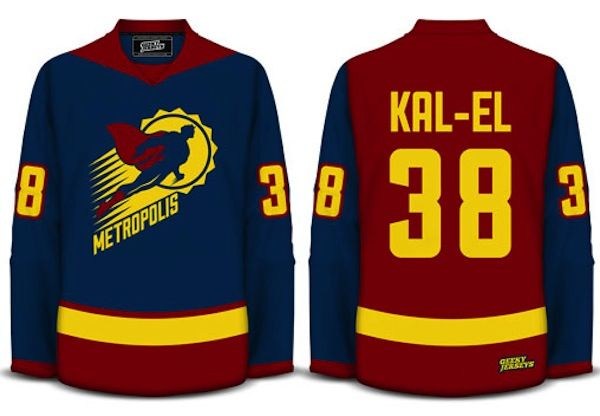 Root for Metropolis with Custom Superman Hockey Jersey 527803f4711
