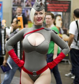 At Attention! (Red Son PowerGirl) - Photography: San Diego Shooter