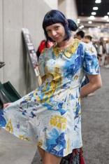 Lady in Star Wars Vintage Dress - San Diego Comic-Con (SDCC) 2013