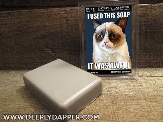 grumpy cat soap