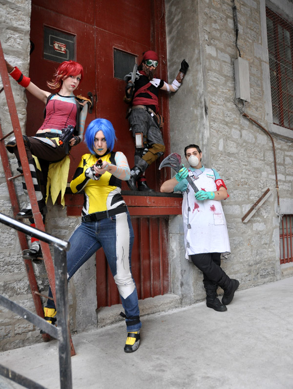 The Sparkling Potatoes Cosplay Group (Borderlands Photoshoot #4) - Montreal Comic Con 2013 - Picture by Geeks are Sexy