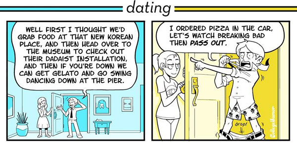 Dating versus being in a relationship
