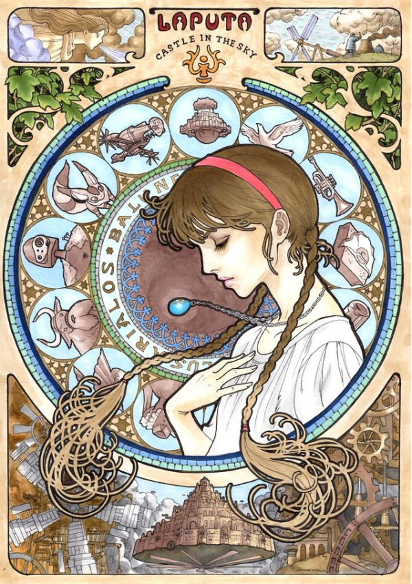Studio Ghibli Art Nouveau-Inspired Art [Pics] | Geeks are Sexy Technology News (1/3)