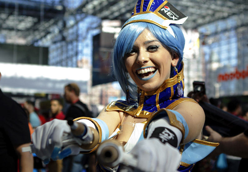 Blue Rose from Tiger and Bunny - New York Comic Con (NYCC) 2013 - Geeks are Sexy