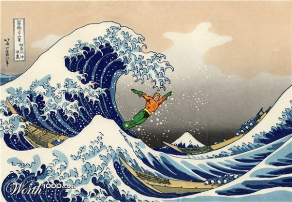 The Great Wave of Aquaman - Puzopia
