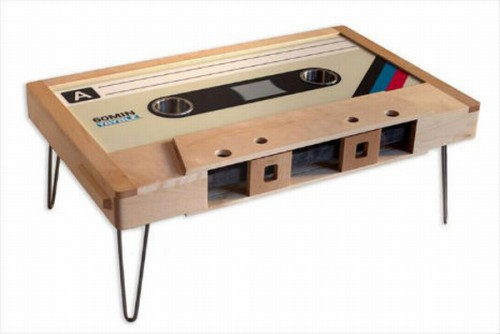 Custom Made Cassette Tape Coffee Tables - Cassette coffee table