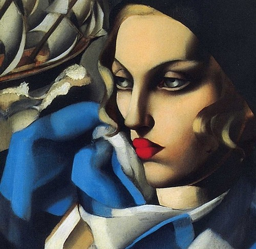 "Tamara de Lempicka, ""The Blue Scarf"""