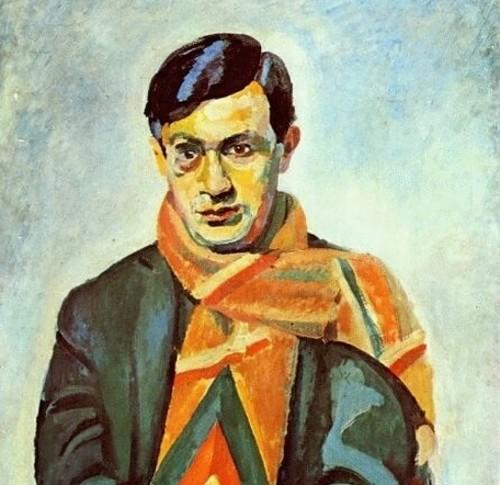 """Robert Delaunay, """"Portrait of Tristan Tzara"""""""