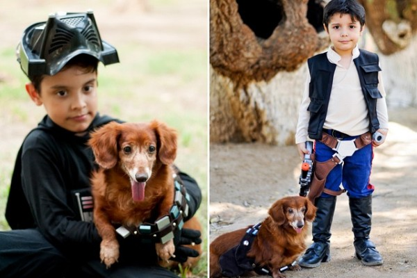 han solo and chewbacca_boy and his dog 4