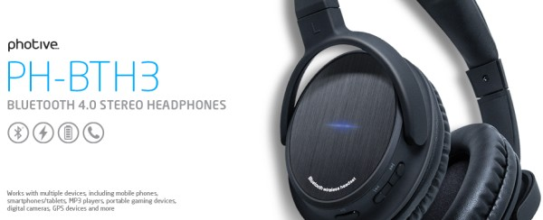418134ce5b1 For today's edition of Deal of the Day, Amazon has the Photive BTH3  Bluetooth 4.0 Headphones with Built-in Mic and 12 Hour Battery (includes  hard travel ...