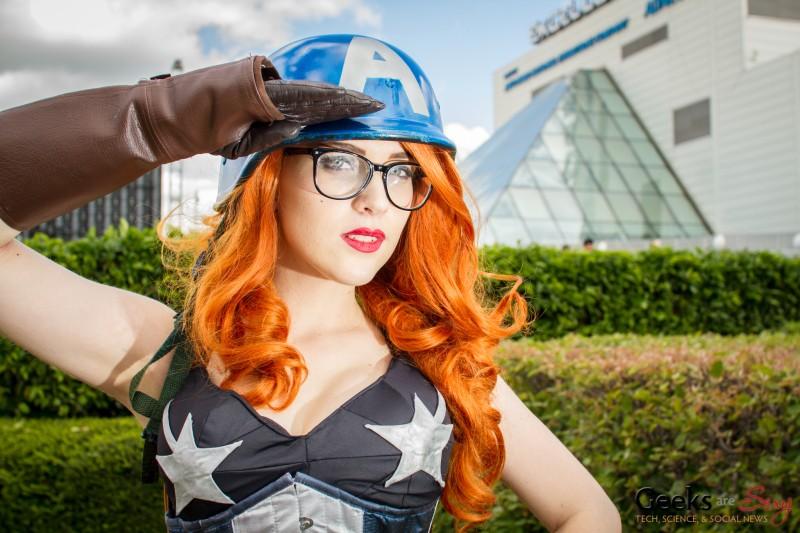 Eve Beauregard as Captain America - MCM London Comic Con 2013