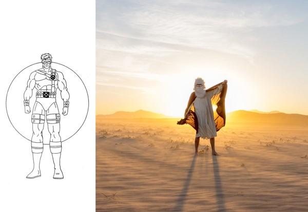 """Visor Man Encircled by the Sun"" by Joel Fox"