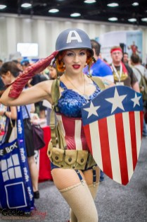 Captain America (Pin up) - SDCC 2014 - Photo: Geeks are Sexy
