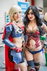Supergirl (Stella Chuu) and Wonder Woman (Chubear Cosplay) - SDCC 2014 - Geeks are Sexy