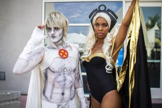 Emma Frost and Storm - SDCC 2014 - Geeks are Sexy